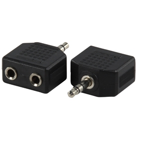 AC-012 / 3.5mm stereo - 2x 3.5mm stereo kontra